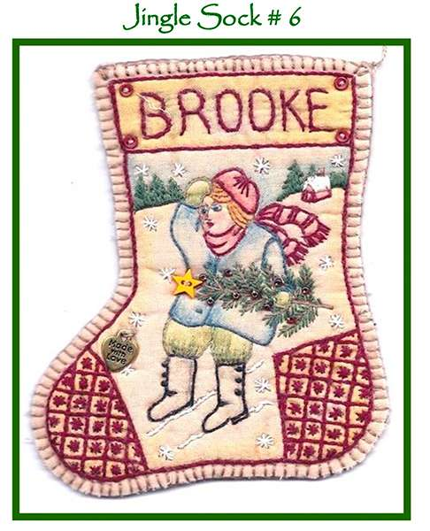 Jingle Sock #6 - Girl with Tree preview