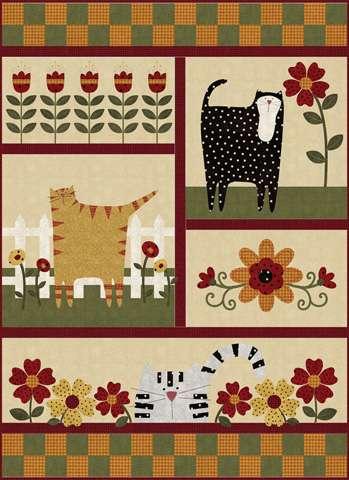 Kitty Cat Garden Kitset - Flannel