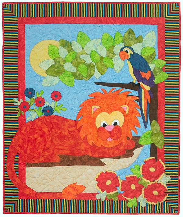 Kitset Quilt King of the Jungle preview