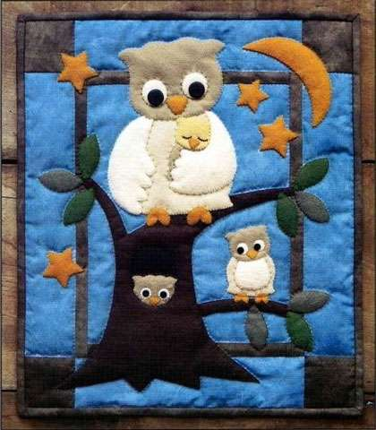 Owl Family Wall Quilt Kitset preview