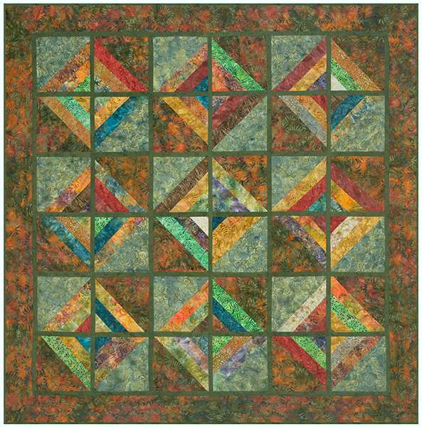 'Outback' Jelly Roll Quilt Kitset preview