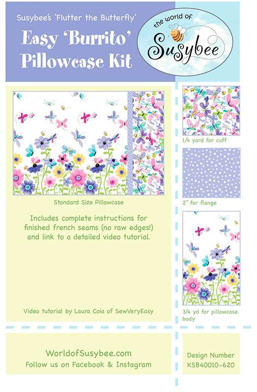 Easy Burrito Pillowcase Kit - Flutter The Butterfly  preview