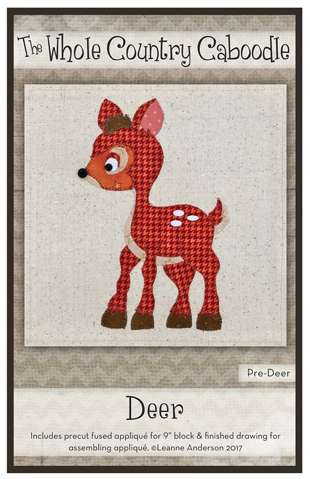 Deer - Precut Fused Applique Pack