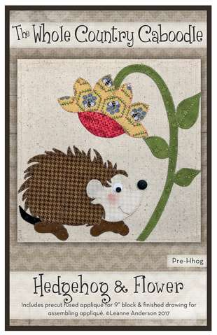 Hedgehog & Flower - Precut Fused Applique Pack