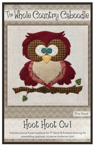 Hoot Hoot Owl - Precut Fused Applique Pack