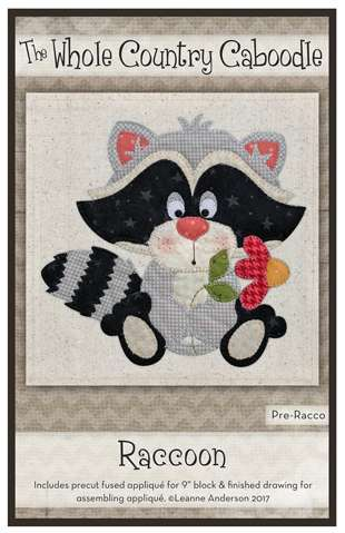 Racoon - Precut Fused Applique Pack