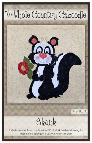 Skunk - Precut Fused Applique Pack