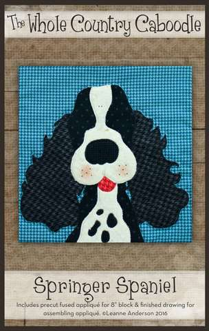 Springer Spaniel - Precut Fused Appliqué Pack