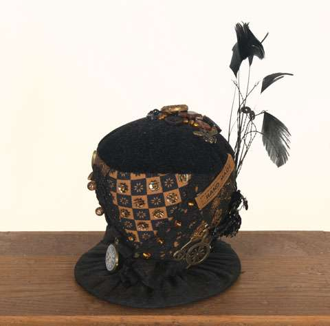 """Steam Punk Top Hat"" Crazy Patch Pincushion Kitset"