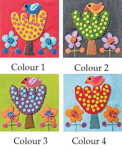 Bird & Tree - Sue Spargo Precut Wool Kits preview