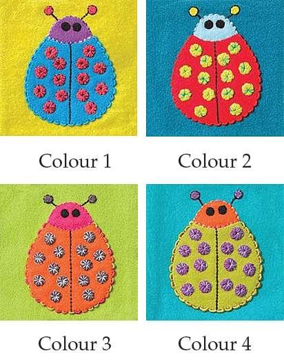 Ladybug - Sue Spargo Precut Wool Kits preview