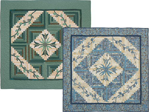 Tulips & Logs Kitset in Green or Blue preview