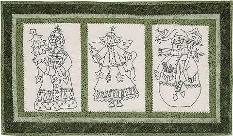 Three Christmas Friends Stitchery Kitset