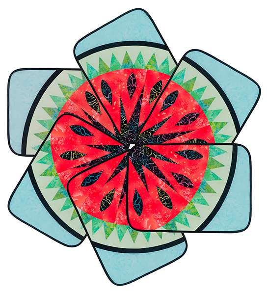 Watermelon Placemats - Foundation Piecing Kitset preview