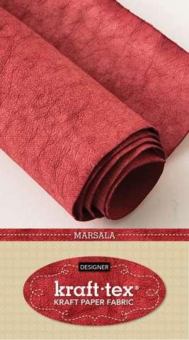"""Kraft-Tex Kraft Paper Fabric (18.5"""" x 28.5"""" roll) - Marsala"""