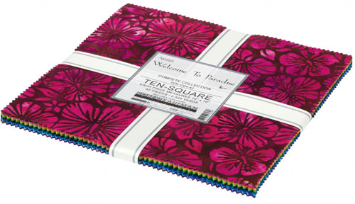 Welcome to Paradise Batik, 10 inch squares, 42 pcs, from Robert Kaufman preview