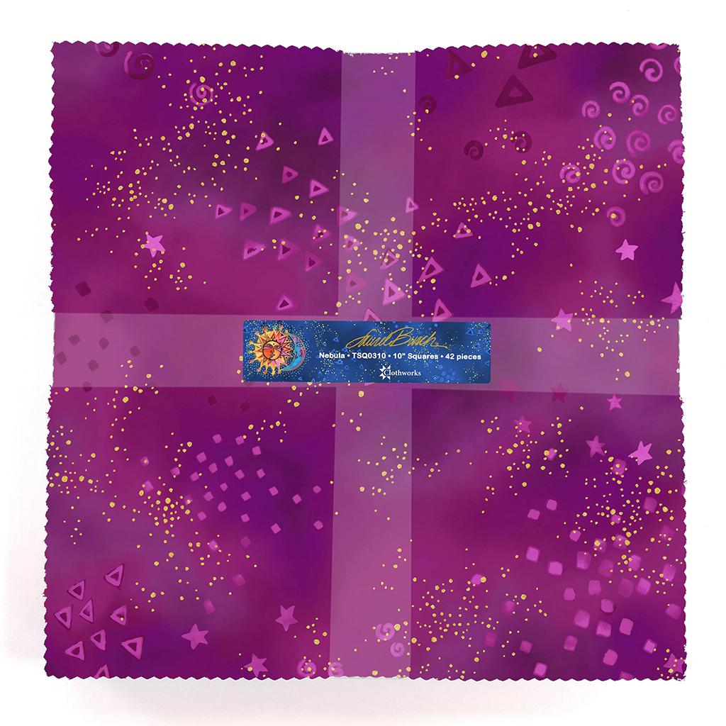 10in Squares Laurel  Burch Basics Nebula, 42pcs preview