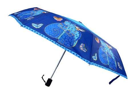 Laurel Burch Indigo Cats - Automatic Compact Umbrella