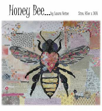 """Honey Bee Collage by Laura Heine 45"""" x 36"""" preview"""