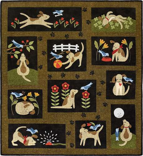 You Lucky Dog - Flannel Quilt