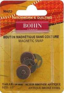 Magnetic Snaps Bronze (1/2 inch)