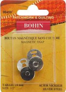 Magnetic Snaps Silver (1/2 inch)