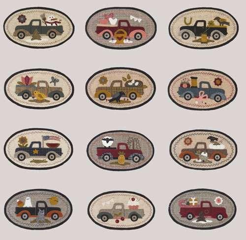 Mini Vintage Truck Thru The Year Club