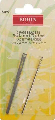Bohin Bodkins Flat & Round (2 Lace Threading Sewing Needles)