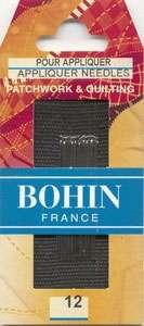 Bohin - Applique Needles - Size 12