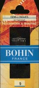 Bohin - Between/Quilting Needles - Size 9