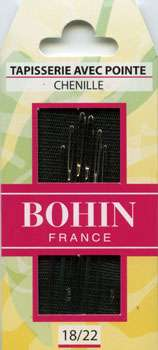 Bohin Chenille Needles - Assorted Sizes 18/22