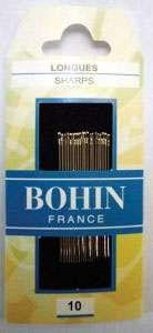 Bohin - Sharps Needles - Size 10