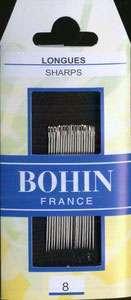Bohin - Sharps Needles - Size 8