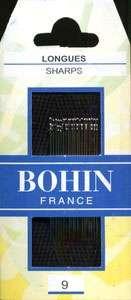 Bohin - Sharps Needles - Size 9