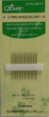Clover Quilting Needles (Size 10 15ct)