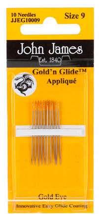 John James Gold'N Glide Applique Needles Size 9 (10ct)