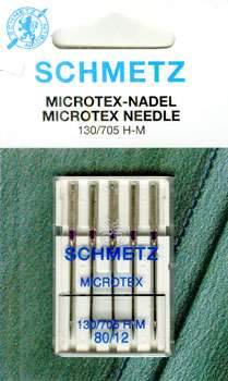 Schmetz - 5 Microtex Needles Size 12 preview