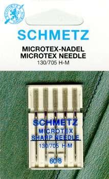 Schmetz - 5 Microtex Needles Size 8