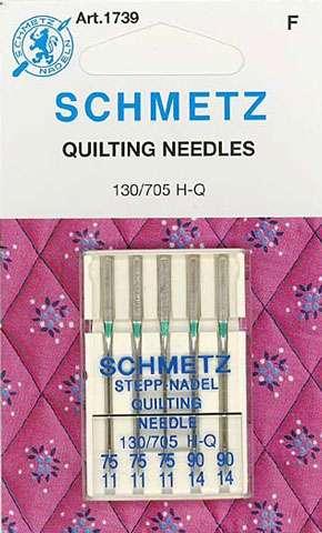 Schmetz - Quilting Needles (3x Size 11, 2x Size 14)