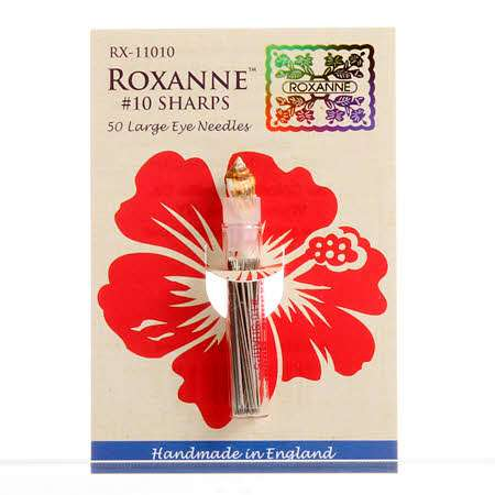 Roxanne #10 Sharps - 50 Large Eye Needles (RX-11010) preview