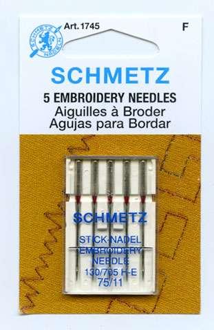 Schmetz - 5 Embroidery Neddles - Size 11
