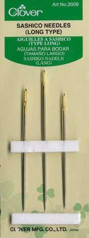 Clover Long Sashiko Needles (3 ct)