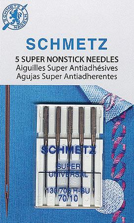 Schmetz Super Nonstick Needles 70/10 (5 per pack)