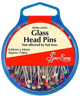 Glass Head Pins - Extra Long - not affected by hot iron preview