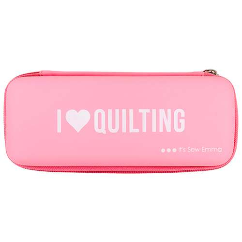 "Pink Rotary Cutter Case - ""I heart Quilting"" preview"
