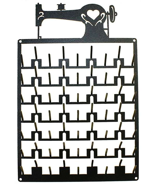 Sewing Machine Spool Rack Charcoal (63 Pins) preview