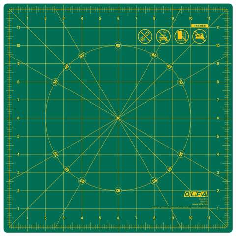 "Olfa Rotating Cutting Mat 12"" x 12"" preview"