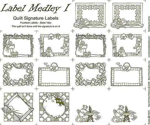 Label Medley Natural - Panel