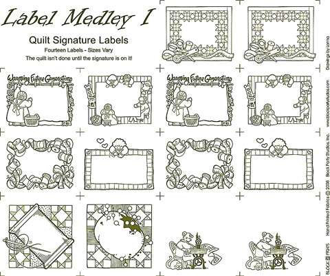 Quilt Label Medley Natural - Panel preview
