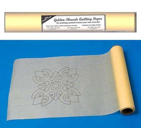 Golden Threads Quilting Paper 18 inch x 20 yards